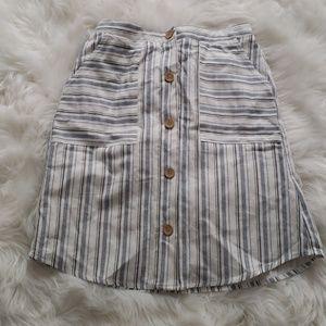 NWT Forever 21 Linen Striped Skirt